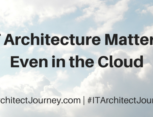 IT Architecture Matters, Even In the Cloud
